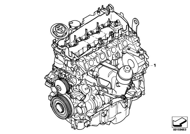 Original Parts For E92 320d N47 Coupe    Engine   Short