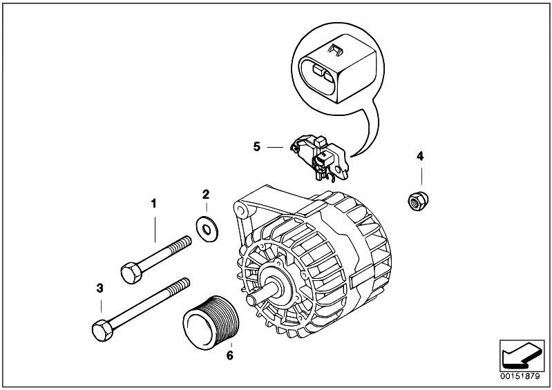 original parts for e60 520i m54 sedan    engine electrical