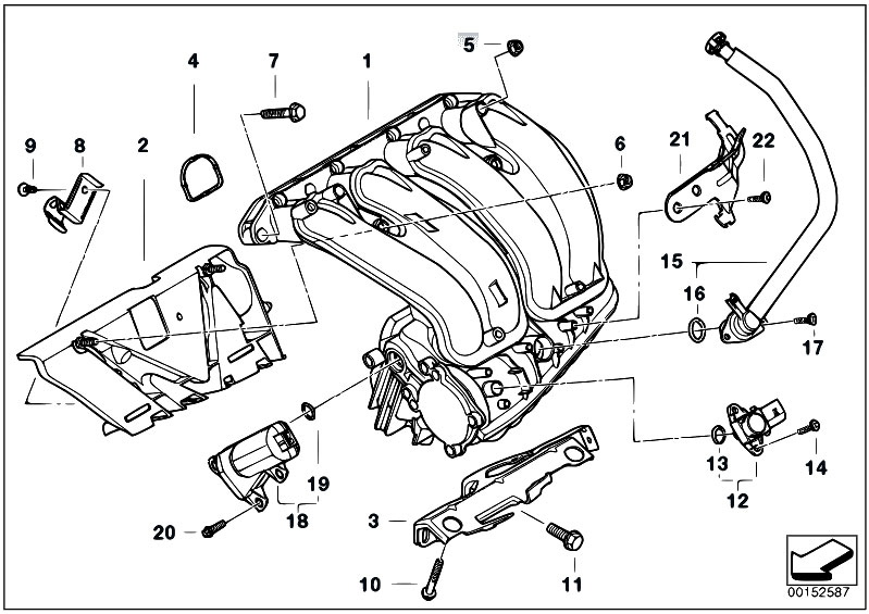 original parts for e93 320i n46n cabrio    engine   intake