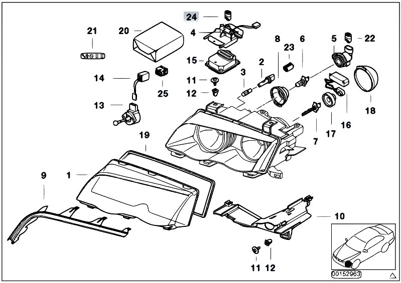 bmw e46 lighting diagram with E46 Headlight Parts Diagram on Index additionally Gs5s31bz Smg Counter Shaft Reverse Gear together with Retrofit Guide moreover Final Drive Gasket Set in addition Cooling System Water Hoses.
