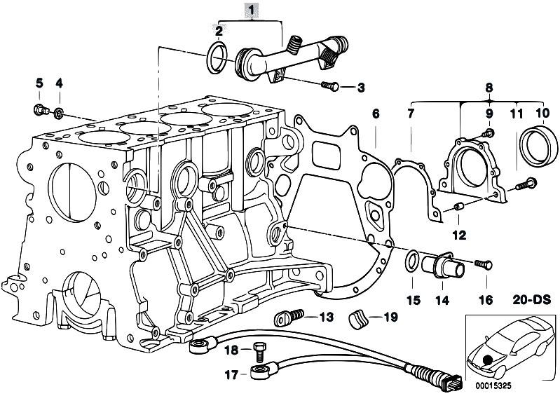 original parts for e46 318i m43 touring engine engine. Black Bedroom Furniture Sets. Home Design Ideas