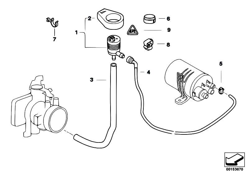 Original Parts For E39 528i M52 Touring Fuel Preparation