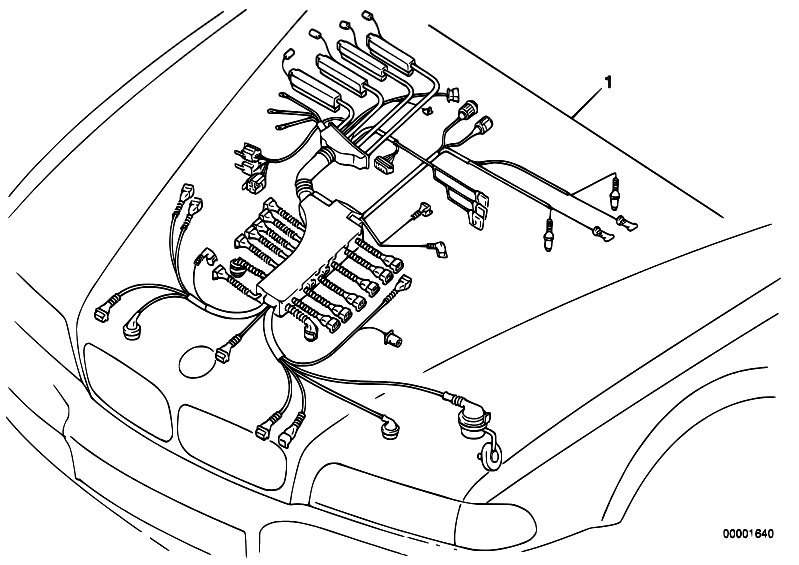 original parts for e38 750i m73 sedan / engine electrical system, Wiring diagram