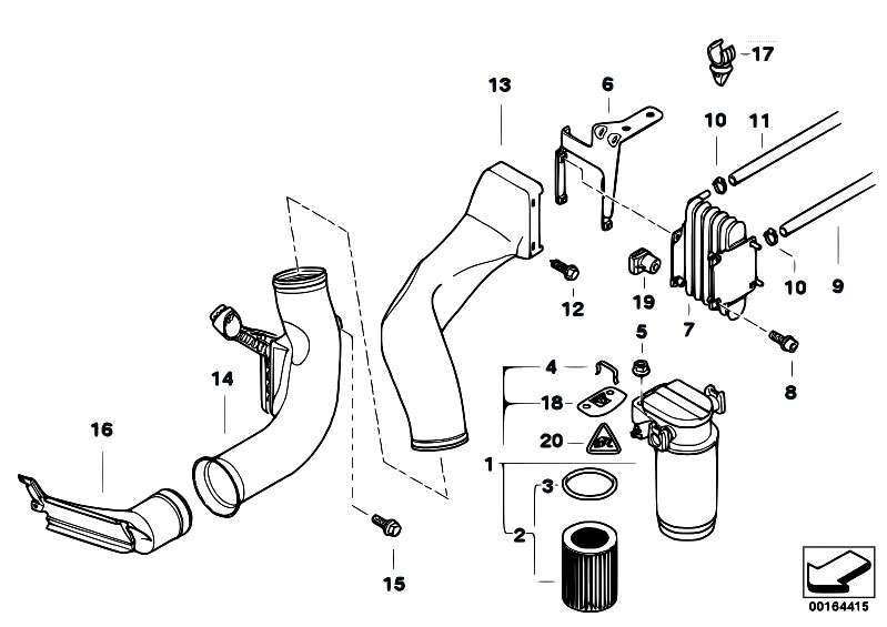original parts for e38 730d m57 sedan    fuel preparation
