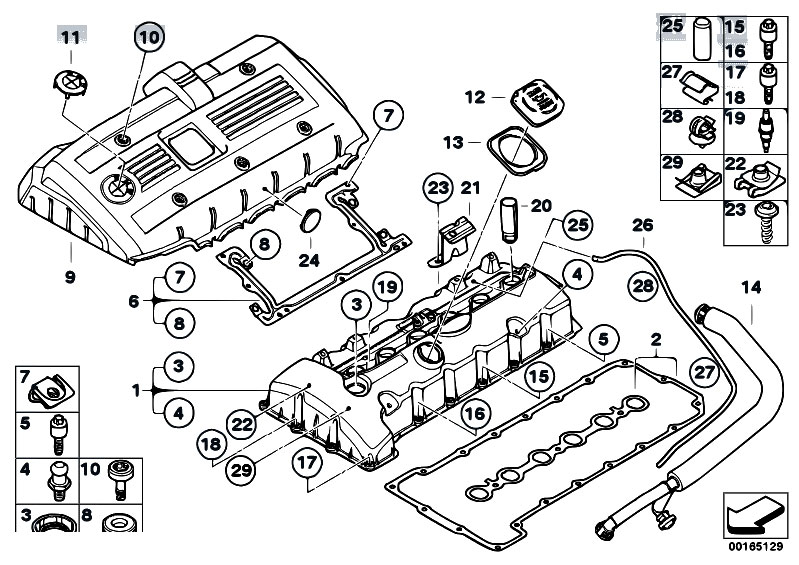 Original Parts for E60 530i N52 Sedan / Engine/ Cylinder Head Cover -  eStore-Central.com | Bmw E60 Engine Diagram |  | eStore-Central.com