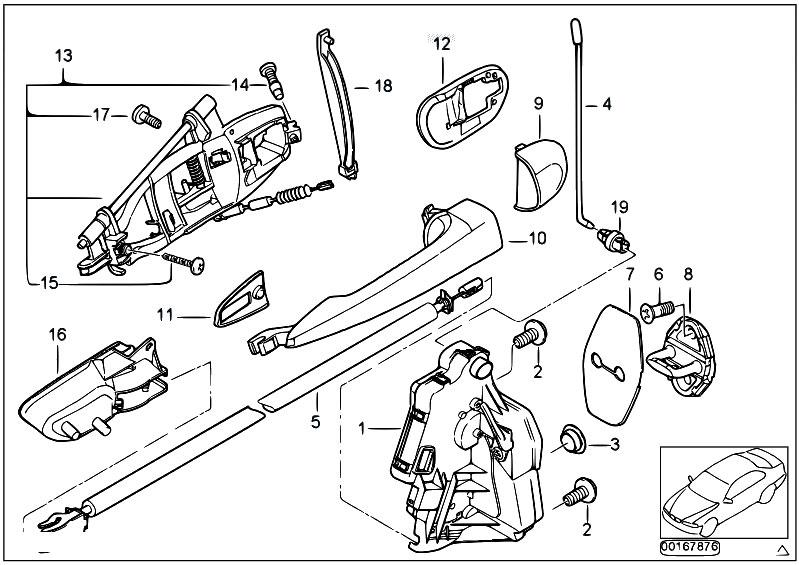 Original Parts For E46 320d M47 Touring Bodywork Door