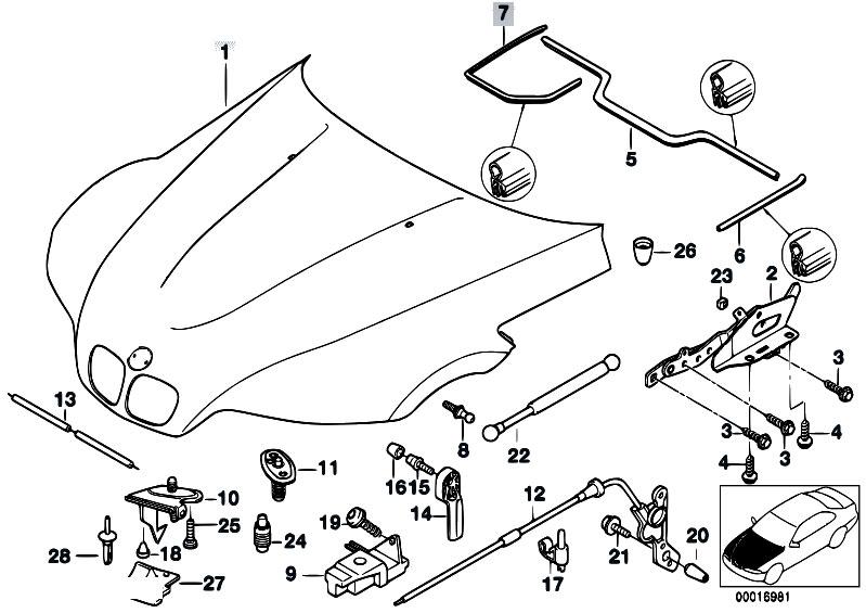 original parts for z3 z3 1 9 m44 roadster bodywork engine hood BMW Z3 Rear Axle original parts for z3 z3 1 9 m44 roadster bodywork engine hood mounting parts estore central