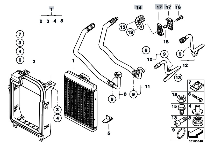 Original Parts For E70 X5 4 8i N62n Sav    Radiator   Engine
