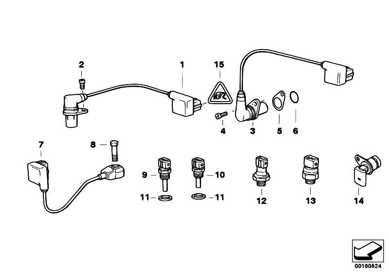 original parts for e38 740i m60 sedan    engine electrical