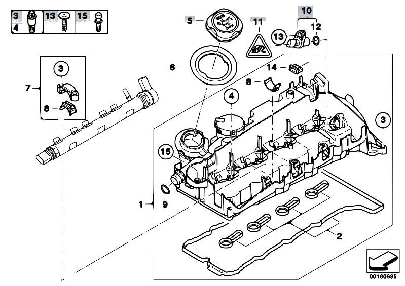 Original Parts For E83n X3 2 0d N47 Sav    Engine   Cylinder Head Cover