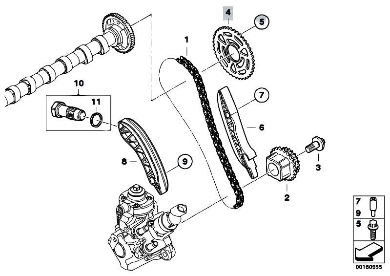 Original Parts For E60n 520d N47 Sedan Engine Timing Gear Chain Top Estorecentralcom: BMW N47 Engine Diagram At Anocheocurrio.co