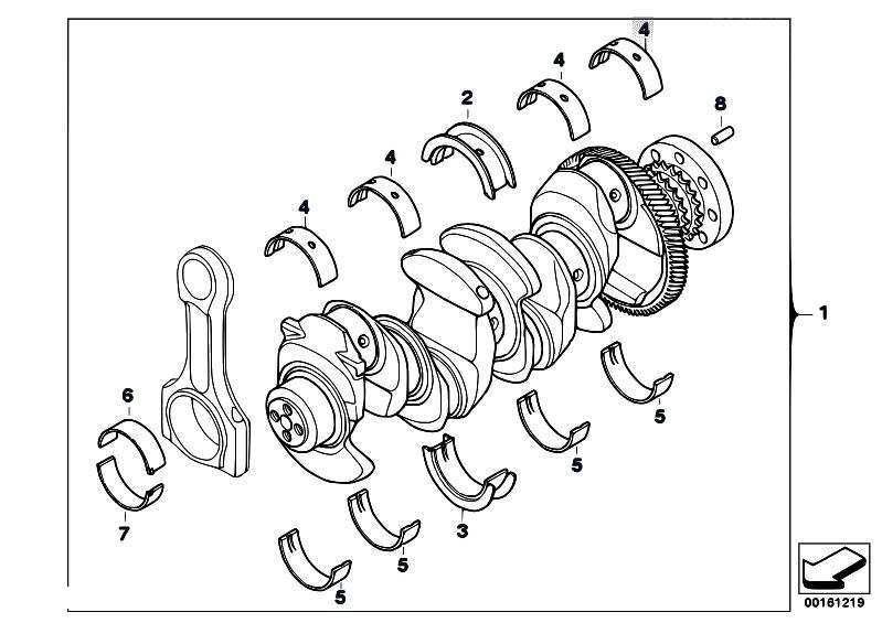 Original Parts For E88 118d N47 Cabrio Engine Crankshaft With