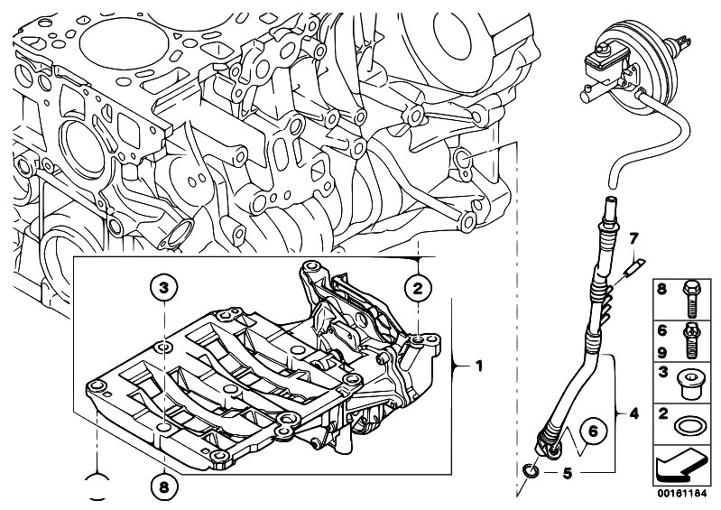 Original Parts For E60n 520d N47 Sedan    Engine   Vacuum
