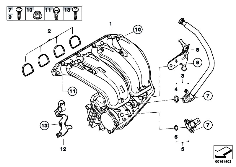 original parts for e91 318i n46n touring    engine   intake