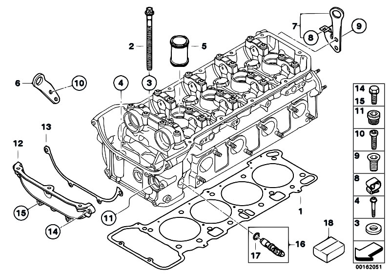 Original Parts For E92 M3 S65 Coupe    Engine   Cylinder Head Attached Parts