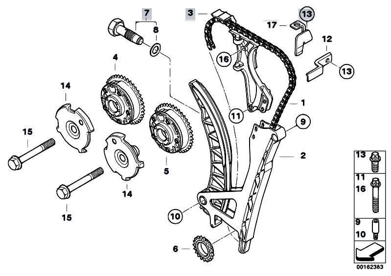 Original Parts For E90n 320i N43 Sedan    Engine   Timing