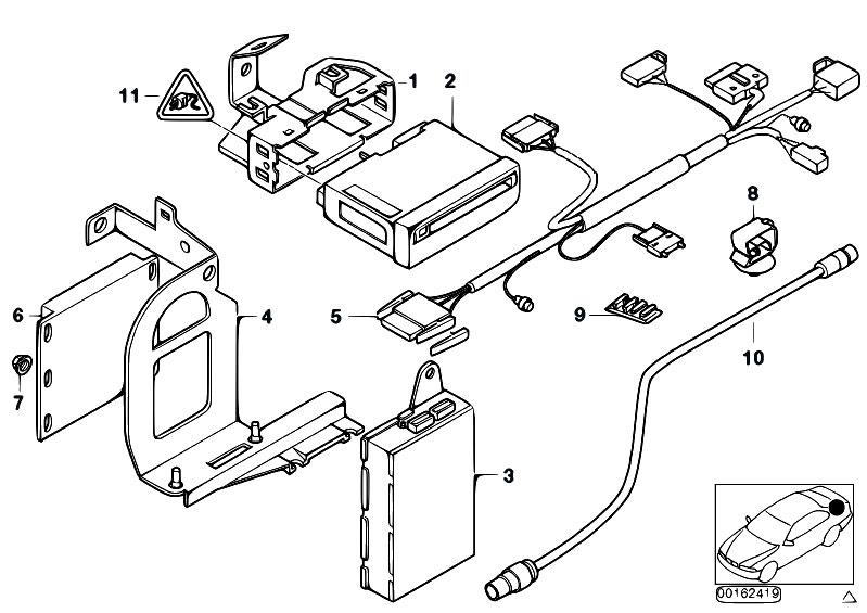 Original Parts For E38 L7 M73n Sedan Audio Navigation Electronic