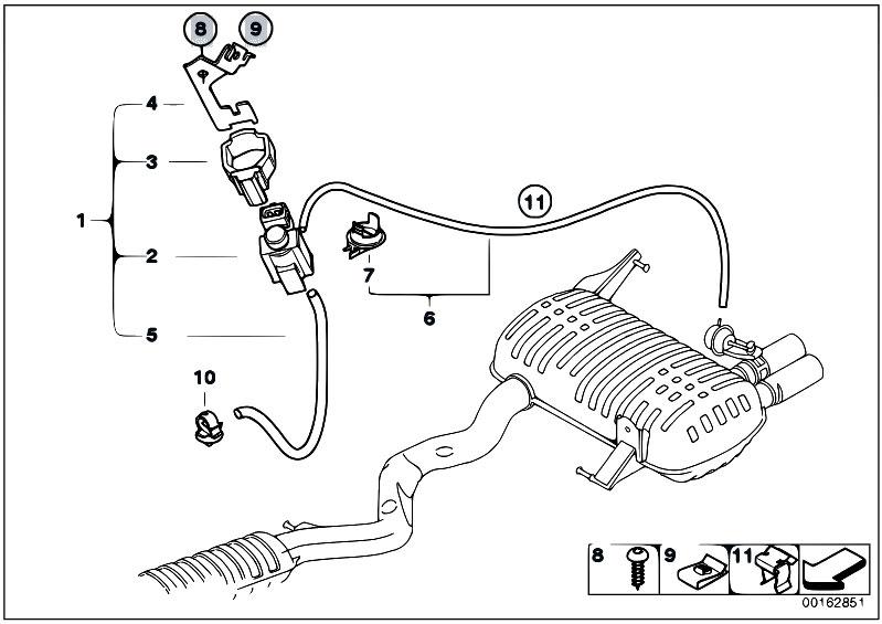 original parts for e90 330i n52 sedan    exhaust system