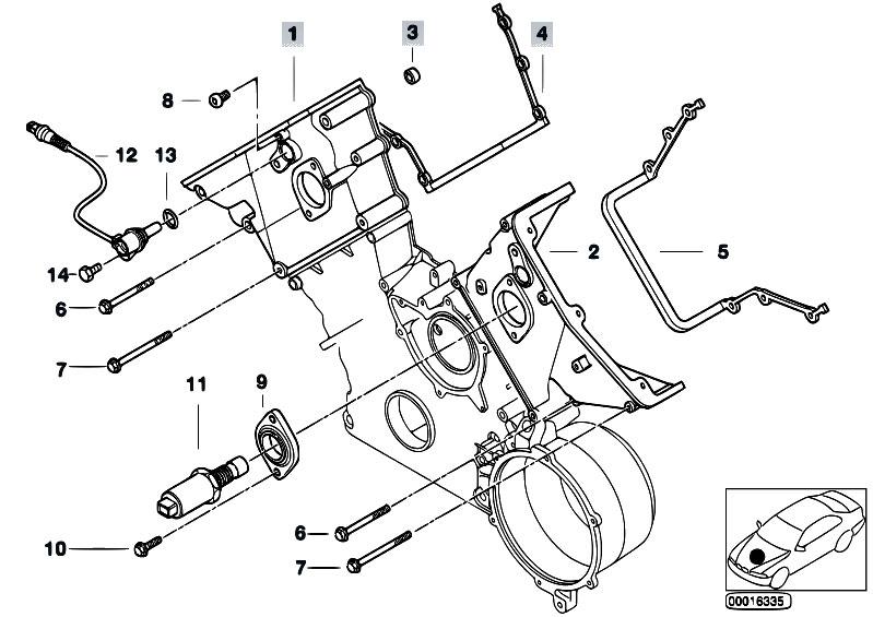 original parts for e53 x5 4 6is m62 sav    engine   upper timing case