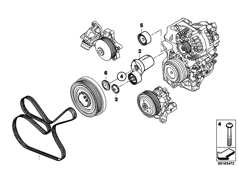 original parts for f01 730d n57 sedan    engine   belt drive