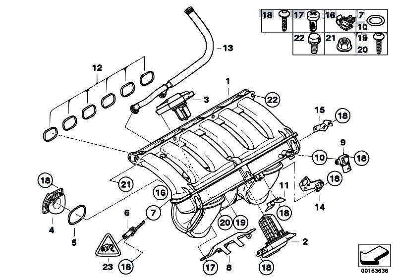 Original Parts For E91 330i N53 Touring    Engine   Intake Manifold System