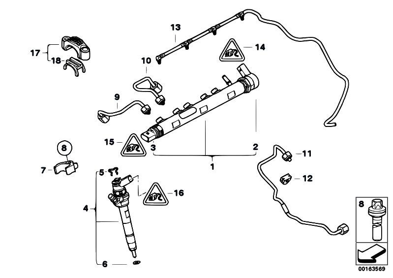Original Parts for E90 318d N47 Sedan / Fuel Preparation System