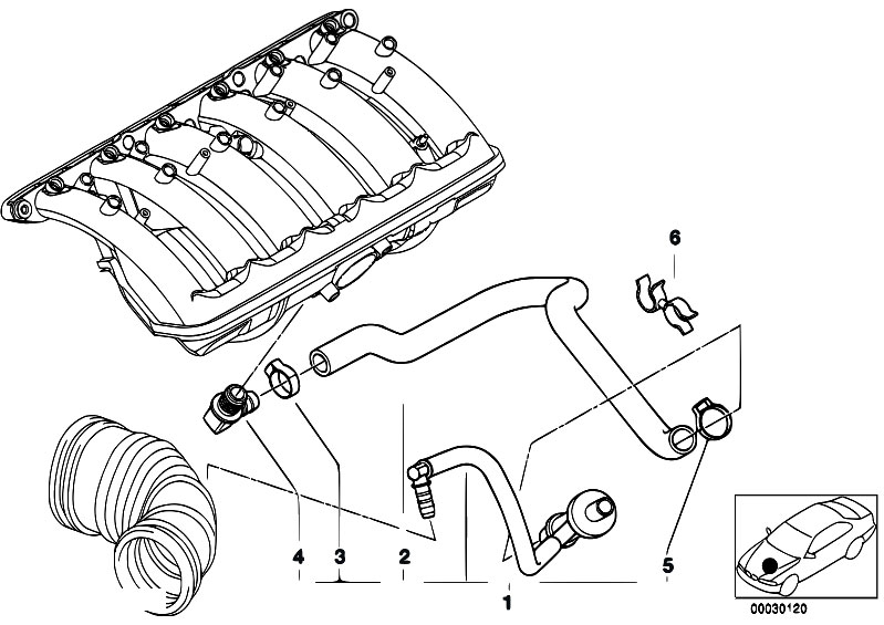 original parts for e38 728i m52 sedan    engine   vacuum