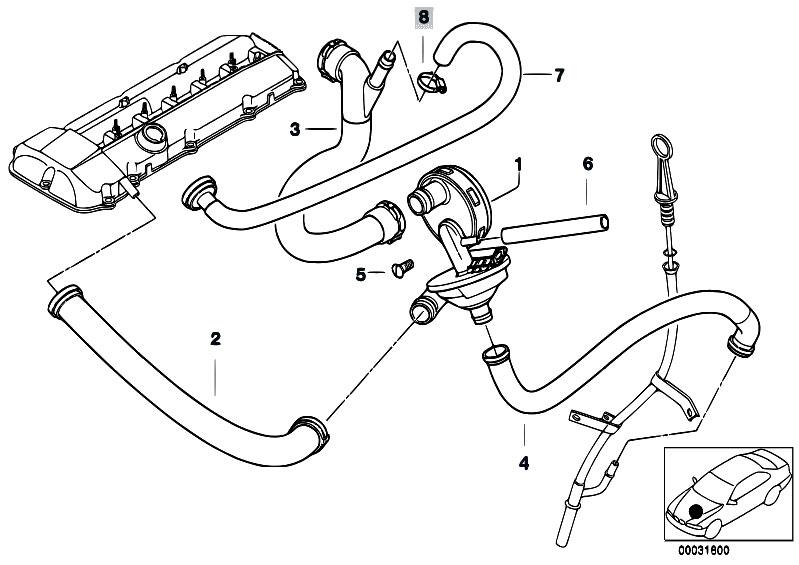original parts for e60 530i m54 sedan    engine   crankcase