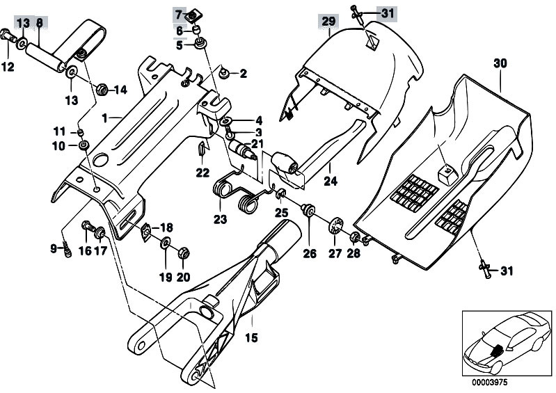 original parts for e39 525td m51 sedan    steering   manually adjust steering column