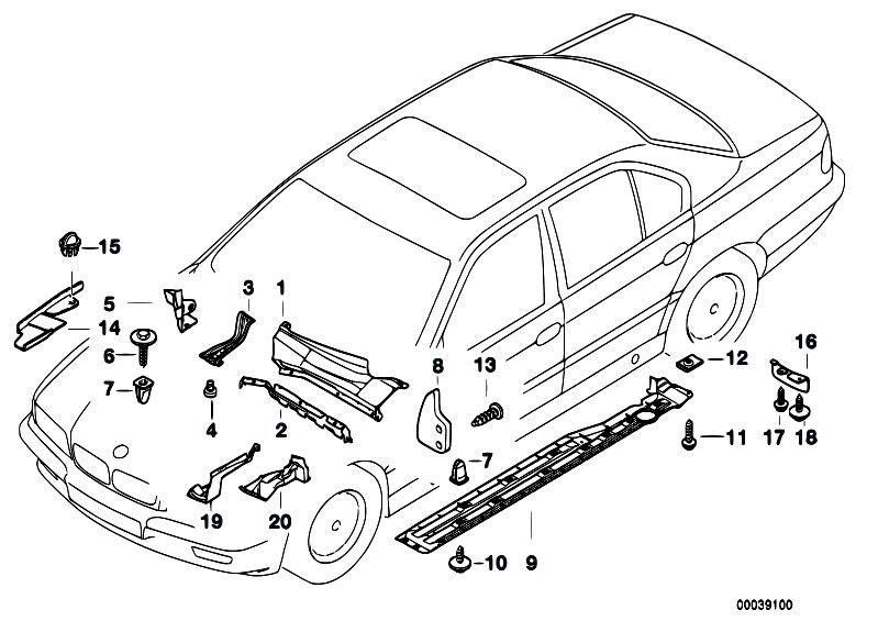 Original Parts For E38 730i M60 Sedan    Vehicle Trim   Body