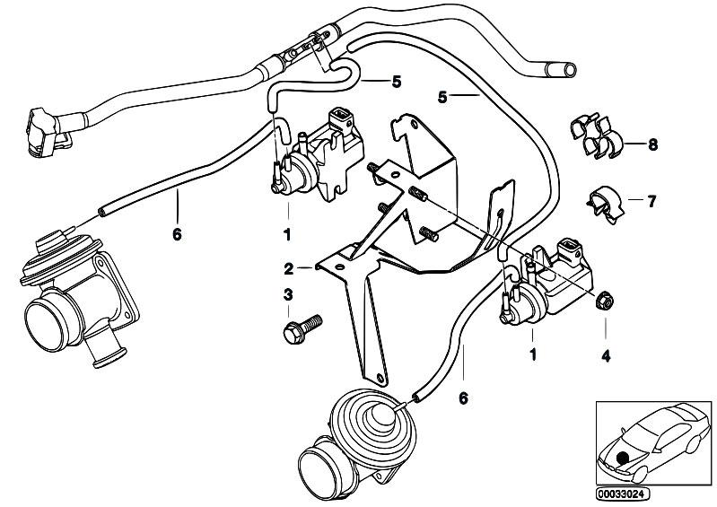 Original Parts For E38 740d M67 Sedan    Engine   Vacuum
