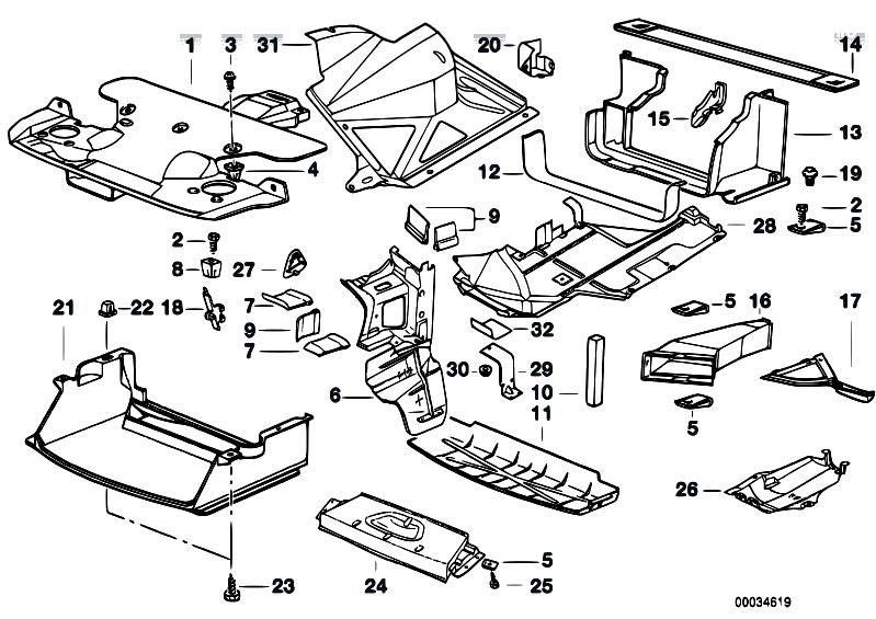 Original Parts For E36 320i M50 Cabrio    Vehicle Trim   Air