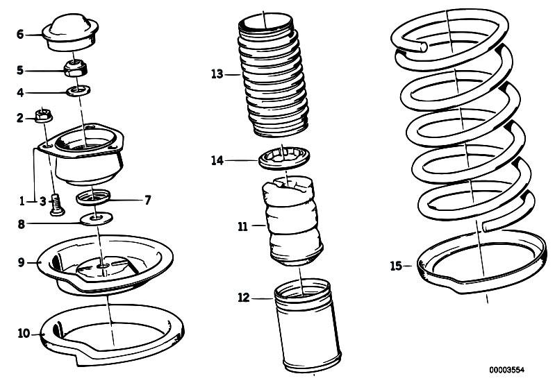 e30 front strut diagram