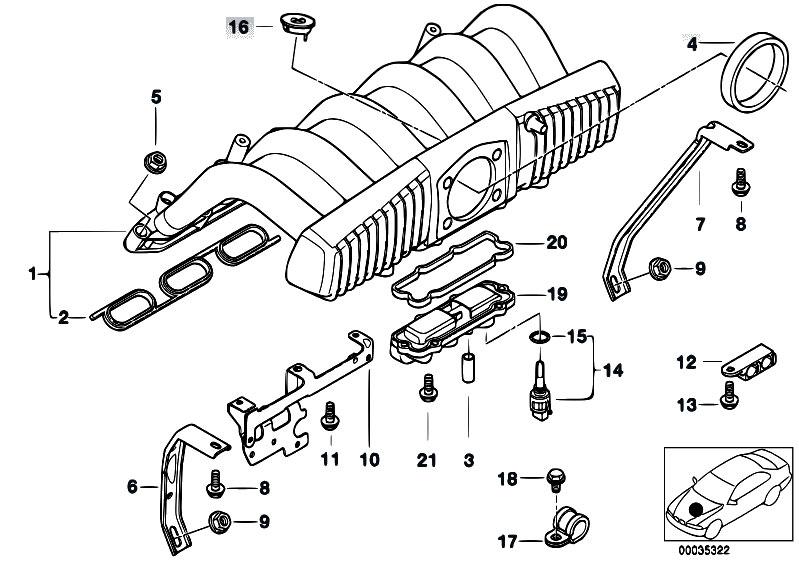 original parts for e36 323ti m52 compact engine intake. Black Bedroom Furniture Sets. Home Design Ideas