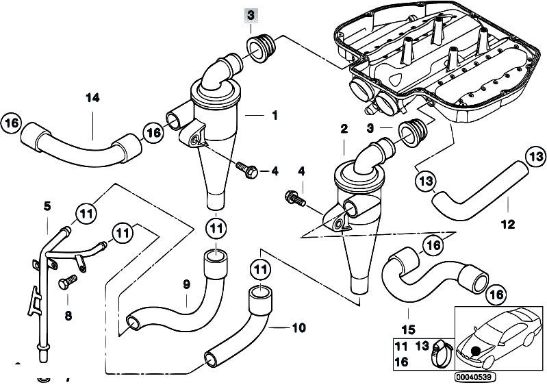 Original Parts For E39 M5 S62 Sedan    Engine   Crankcase