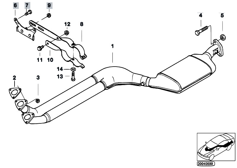 original parts for e36 323ti m52 pact exhaust system catalytic Rhodium Catalytic Converters Made Of original parts for e36 323ti m52 pact exhaust system catalytic converter front silencer estore central