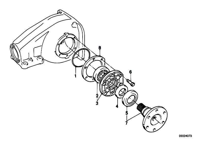 original parts for e21 318 m10 sedan    rear axle   drive