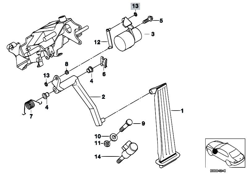 original parts for e39 m5 s62 sedan    pedals   acc pedal
