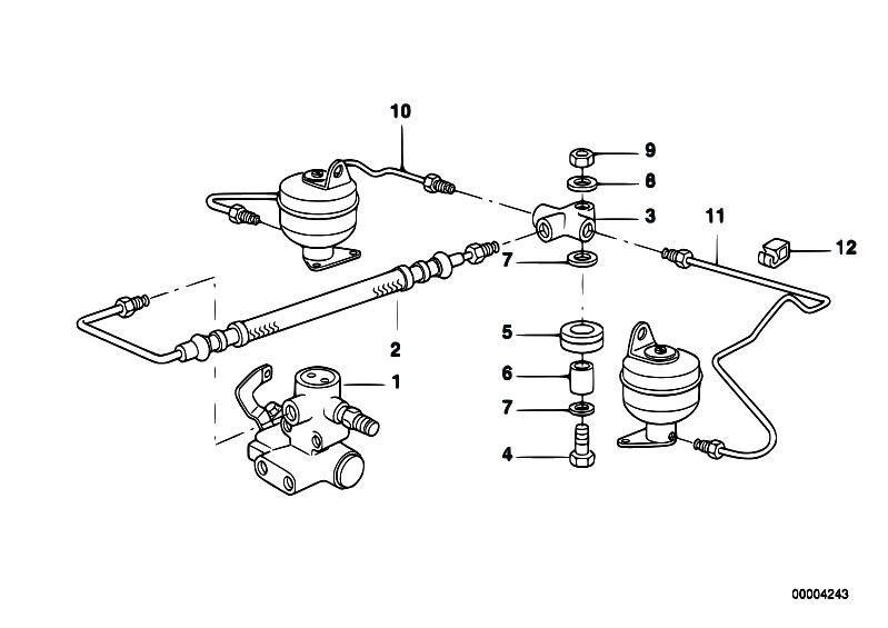 Original Parts For E38 730i M60 Sedan    Rear Axle