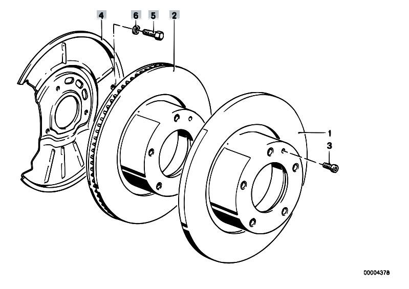 Original Parts For Z3 Z3 2 8 M52 Roadster Brakes Front