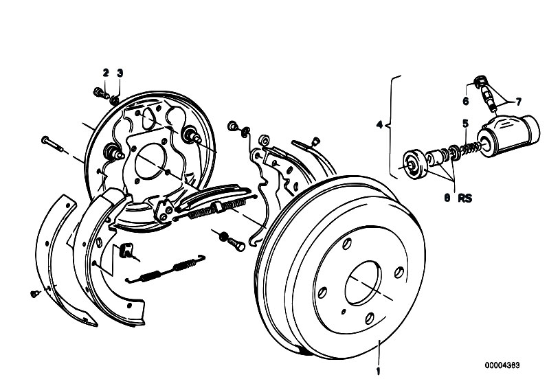 Original Parts For E21 318i M10 Sedan    Brakes   Drum Brake