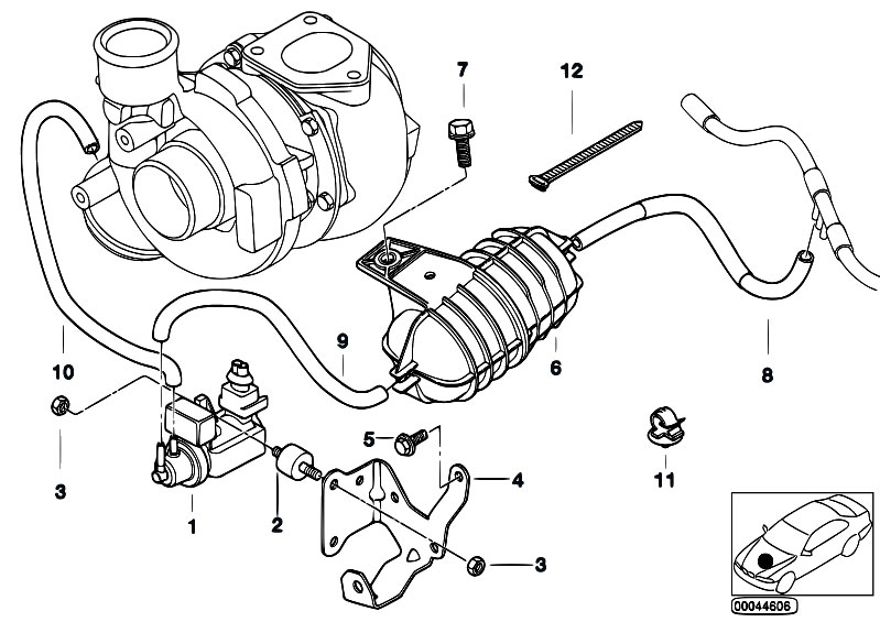 original parts for e46 330d m57 touring    engine   vacum