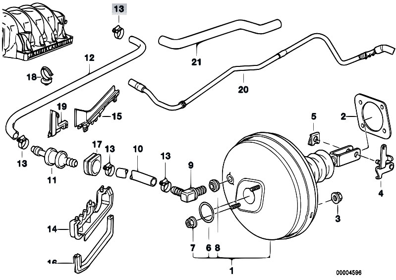 original parts for e38 728i m52 sedan    brakes   power