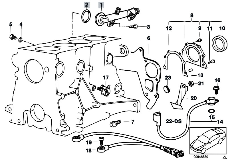 Original Parts For E36 318ti M44 Compact    Engine   Engine