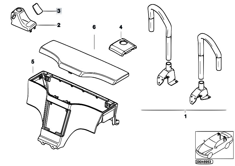 Original Parts for    Z3       Z3    28 M52 Roadster  Sliding Roof Folding Top Retrofit Kit Rollover Bar