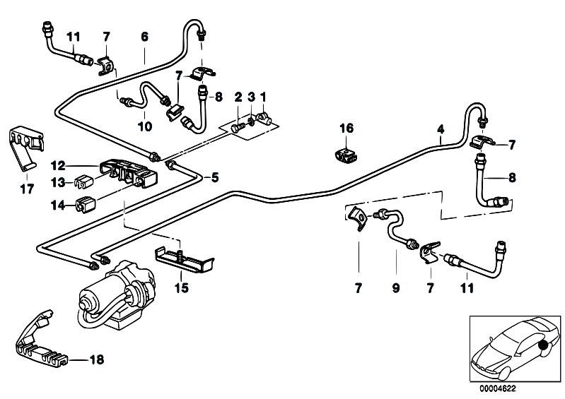 original parts for e36 316i 1 6 m43 compact    brakes