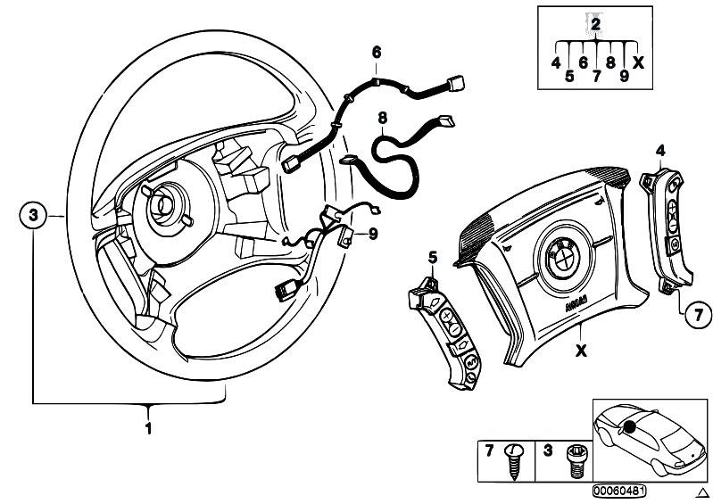 Original Parts For E46 330xd M57 Sedan Steering Steering Wheel