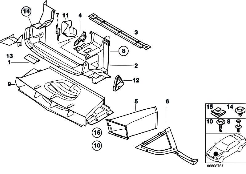 original parts for e36 m3 3 2 s50 sedan    vehicle trim   air duct 2