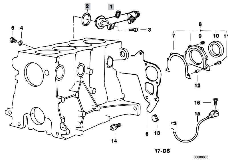 Original Parts For E36 318ti M42 Compact Engine Engine Block