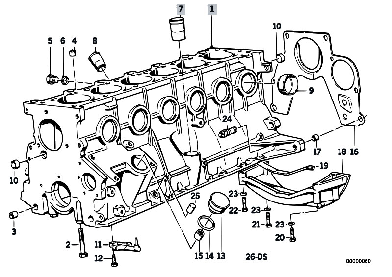 original parts for e34 524td m21 sedan    engine   engine
